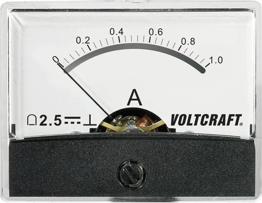 Beépíthető analóg lengőtekercses árammérő műszer 1A/DC Voltcraft AM-60x46