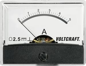 Beépíthető analóg lengőtekercses árammérő műszer 5A/DC Voltcraft AM-60x46 (AM-60X46/5A/DC) VOLTCRAFT