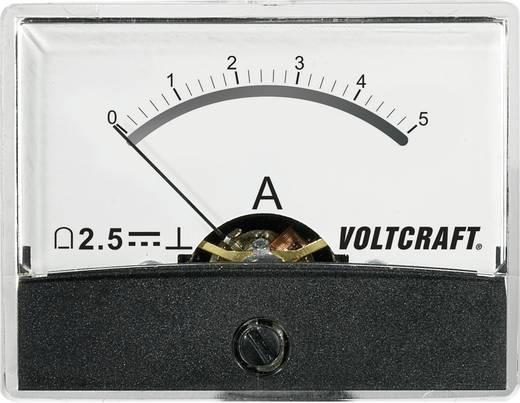 Beépíthető analóg lengőtekercses árammérő műszer 5A/DC Voltcraft AM-60x46