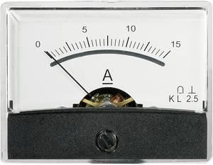 Beépíthető analóg lengőtekercses árammérő műszer 15A/DC Voltcraft AM-60x46 (AM-60X46/15A/DC) VOLTCRAFT