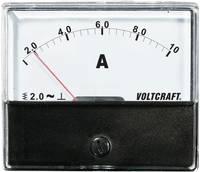 Analóg beépíthető lágyvasas táblaműszer, beépíthető árammérő műszer 10A Voltcraft AM 70x60 VOLTCRAFT