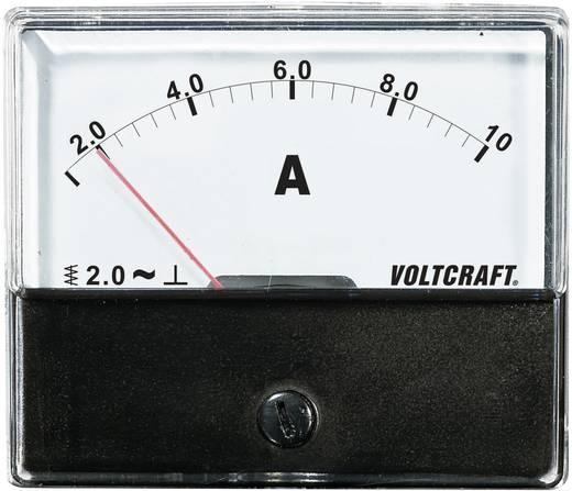 Analóg beépíthető lágyvasas táblaműszer, beépíthető árammérő műszer 10A Voltcraft AM 70x60
