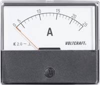 Analóg beépíthető lágyvasas táblaműszer, beépíthető árammérő műszer 25A Voltcraft AM 70x60 VOLTCRAFT