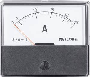 Analóg beépíthető lágyvasas táblaműszer, beépíthető árammérő műszer 25A Voltcraft AM 70x60 (AM-70X60/25A) VOLTCRAFT