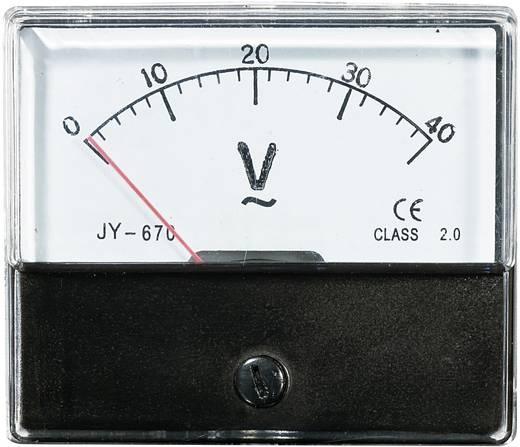 Beépíthető analóg lágyvasas táblaműszer, beépíthető műszer AC 40V Voltcraft AM 70x60