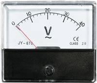 Beépíthető analóg lengőtekercses táblaműszer, beépíthető műszer AC 40V Voltcraft AM 70x60 VOLTCRAFT