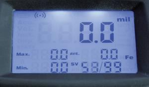 Rétegvastagság mérő, lakk vastagság, festék vastagság mérő Sauter TG 1250-0.1FN. Sauter