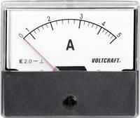 Analóg beépíthető lágyvasas táblaműszer, beépíthető árammérő műszer 5A Voltcraft AM 70x60 VOLTCRAFT