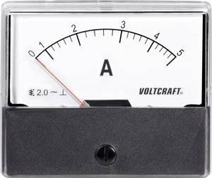 Analóg beépíthető lágyvasas táblaműszer, beépíthető árammérő műszer 5A Voltcraft AM 70x60 (AM-70X60/5A) VOLTCRAFT