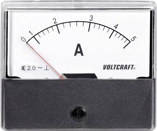 Analóg beépíthető lágyvasas táblaműszer, beépíthető árammérő műszer 5A Voltcraft AM 70x60