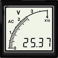 APMDCV72-NTR DC feszültségmérő sávos kijelzővel, háttérvilágítás negativ vörös Trumeter