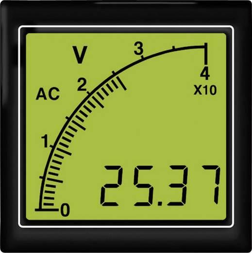 APMACV72-TW AC voltméter vonalsor kijelzéssel, fehér háttérvilágítás