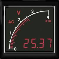 APMACV72-TG AC voltméter vonalsor kijelzéssel, zöld háttérvilágítás Trumeter