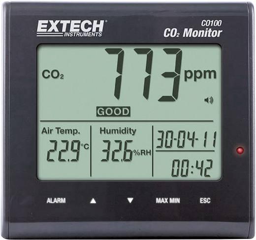 Széndioxid CO2 mérőműszer, levegőminőség mérő 0 - 9999 ppm CO2 Extech CO100