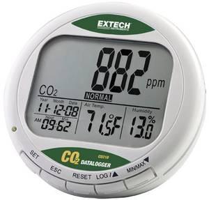 Széndioxid CO2 mérőműszer, levegőminőség mérő, adatgyűjtő 0 - 9999 ppm CO2 Extech CO210 Extech