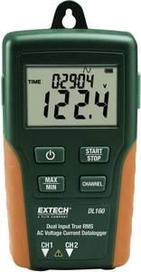 Valódi effektívéték TrueRMS mérésadatgyűjtő, két csatornás 600 V/AC, 200 A/AC Extech DL160 Extech