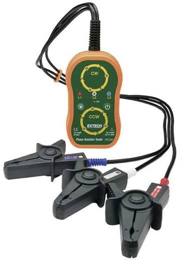 Fázissorrend teszter, forgómező és forgásirány vizsgáló műszer CAT IV 600 V Extech PRT200