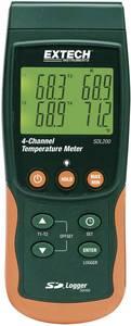 2/4 csatornás hőmérséklet mérő és SD kártyás adatgyűjtő -199 től+1700 °C-ig K-tipusú érzékelővel Extech SDL200 Extech