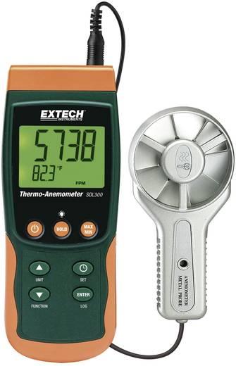 Szárnykerekes szélsebességmérő, légsebességmérő, anemométer beépített léghőmérővel Extech SDL300