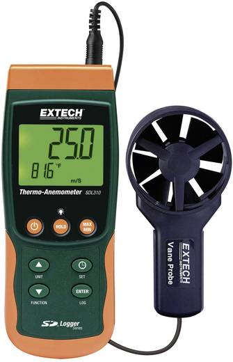 Szárnykerekes szélsebességmérő, légsebességmérő, anemométer beépített léghőmérővel Extech SDL310