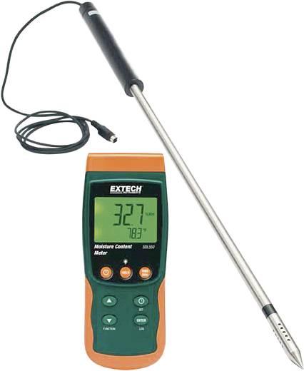 Anyagnedvességmérő műszer, maradék nedvességtartalom mérő műszer adatgyűjtővel Extech SDL550