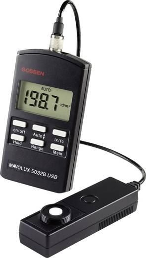 Fénymérő, 0,01-199900 lx, Gossen Mavolux 5032 B USB