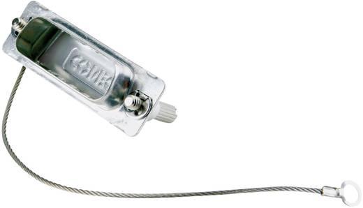 D-SUB Árnyékolósapka, Conec 16-000840 ezüst 1 db
