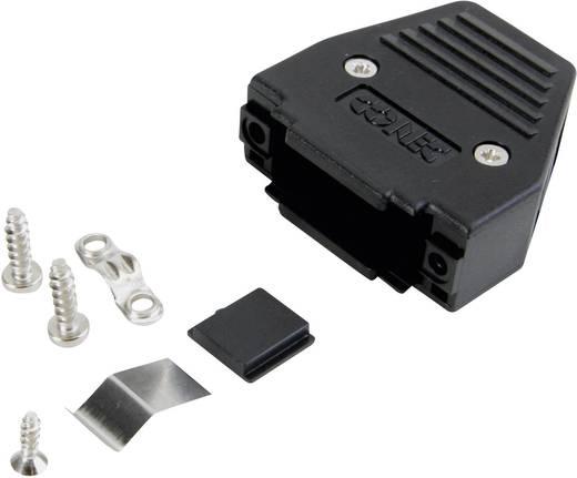 D-SUB doboz pólusszám: 9 műanyag 180 ° Fekete Conec 165X11239XE 1 db