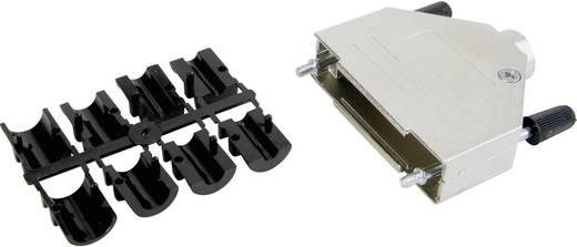 D-SUB doboz pólusszám: 37 fém 180 ° Ezüst Conec 165X02639XE 1 db