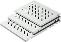 Berendezéstálca, 19˝-os kiépítés, 409 x 400 mm, Rittal DK 7144.035 Rittal