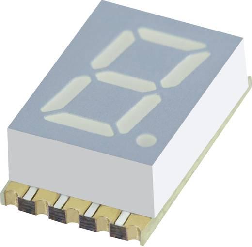7 szegmenses kijelző, sárga 7.62 mm 1.95 V Számjegyek: 1 Kingbright KCSC03-107