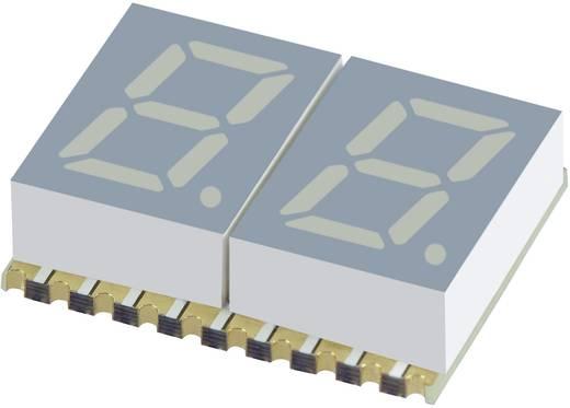 7 szegmenses kijelző, sárga 7.62 mm 1.95 V Számjegyek: 2 Kingbright KCDC03-107