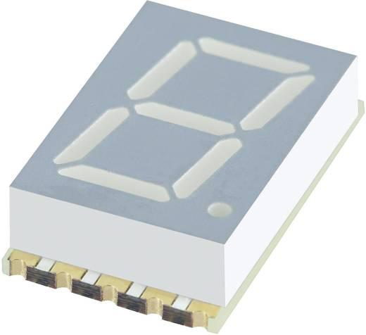 7 szegmenses kijelző, sárga 10.16 mm 1.95 V Számjegyek: 1 Kingbright KCSC04-107