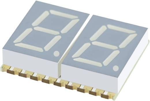 7 szegmenses kijelző, sárga 10.16 mm 1.95 V Számjegyek: 2 Kingbright KCDC04-107