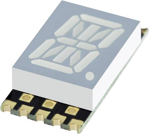 Alfanumerikus szegmens kijelző, sárga 10.16 mm 1.95 V Számjegyek: 1 Kingbright KCPSC04-107