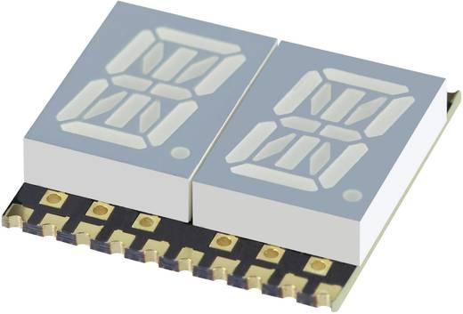 Alfanumerikus szegmens kijelző, sárga 10.16 mm 1.95 V Számjegyek: 2 Kingbright KCPDA04-107