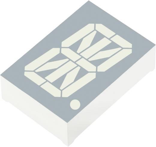 Alfanumerikus szegmens kijelző, zöld 30.48 mm 4 V Számjegyek: 1 Kingbright PSC12-11CGKWA