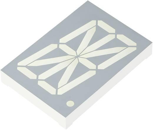 Alfanumerikus szegmens kijelző, sárga 56.8 mm 3.9 V Számjegyek: 1 Kingbright PSA23-11SYKWA
