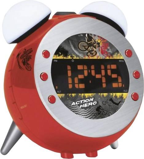 Rádiós ébresztőóra, piros, Soundmaster UR 140,