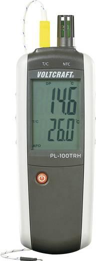 Levegő hőmérséklet és páratartalom mérő, folyadékhőmérő, K hőelemmel Voltcraft PL-100TRH