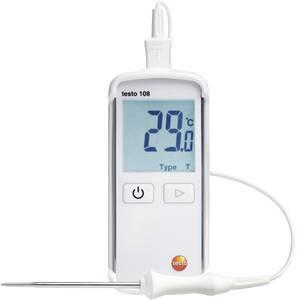 Beszúrós hőmérséklet mérő műszer, -50...+300 °C, T típus (Cu-CuNi), K típus (NiCr-Ni), Testo 108 testo
