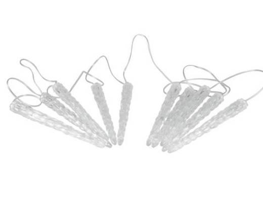 LED-es jégcsap fényfüzér 10 x 24 cm fehér