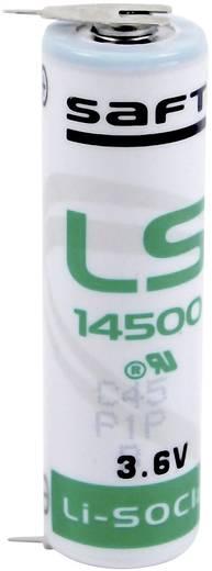 AA lítium ceruzaelem, forrasztható, 3,6V 2600 mAh, forrfüles, 14,5 x 50 mm, Saft LS145002PF