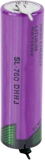 AA lítium ceruzaelem, forrasztható, 3,6V 2200 mAh, forrfüles, 15 x 50 mm, Tadiran SL760PR
