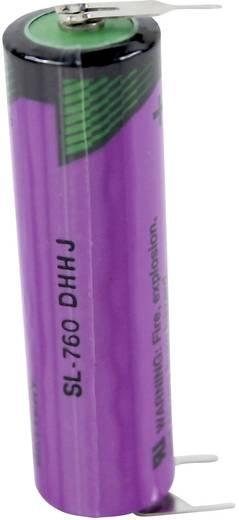AA lítium ceruzaelem, forrasztható, 3,6V 2200 mAh, forrfüles, 15 x 50 mm, Tadiran SL760PT