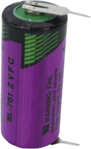2/3 AA lítium elem, forrasztható, 3,6V 1500 mAh, forrfüles, 15 x 33 mm, Tadiran SL761PR