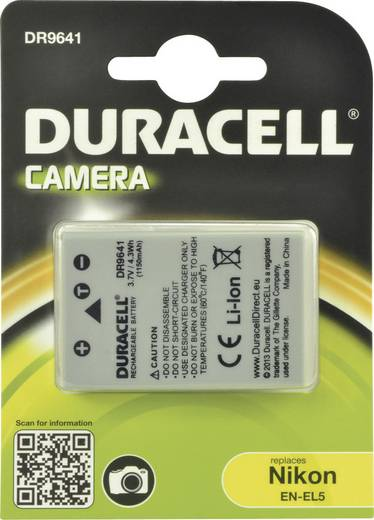 EN-EL5 Nikon kamera akku 3,7V 1150 mAh, Duracell