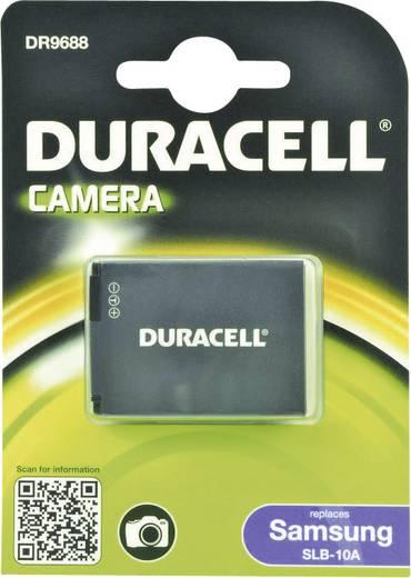 Kamera akku Duracell Megfelelő eredeti akku SLB-10A 3.7 V 750 mAh