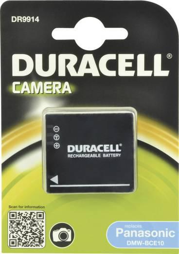 Kamera akku Duracell Megfelelő eredeti akku DMW-BCE10E 3.7 V 700 mAh