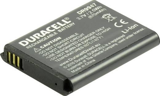 Kamera akku Duracell Megfelelő eredeti akku BP-70A 3.7 V 670 mAh